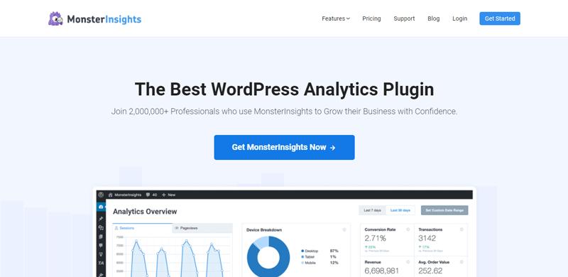 Плагин Google Analytics monsterinsights blogpascher