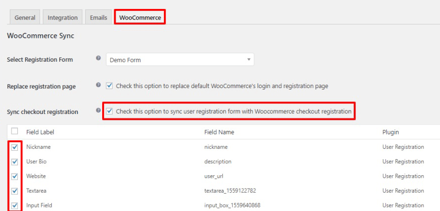 Integration woocommerce login and registration page compte