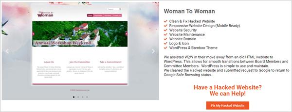 Woman 2 Woman - Site piraté fixe.