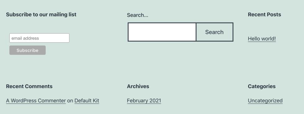 Un formulaire d'inscription Mailchimp.