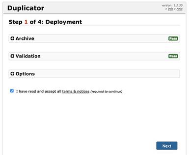Le programme d'installation de Duplicator.