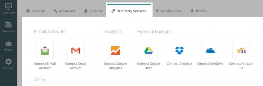Intégration de ManageWP aux services Google.