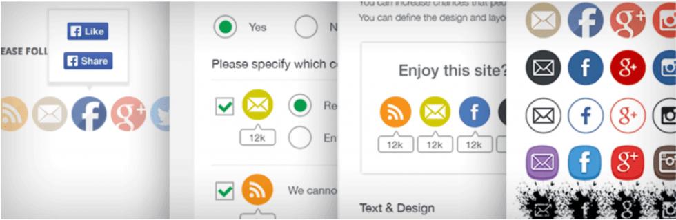 Le plugin d'icônes UltimatelySocial.