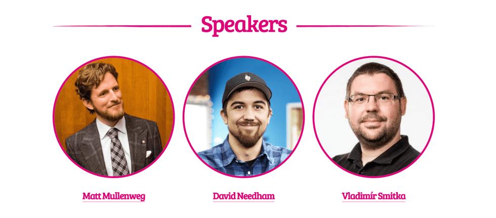 La page des intervenants pour WordCamp Europe 2019.