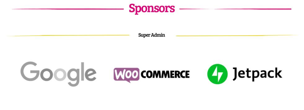 La page des sponsors pour WordCamp Europe 2019.
