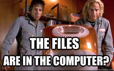 Dans l'ordinateur