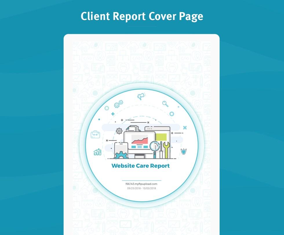 Page de couverture du rapport client