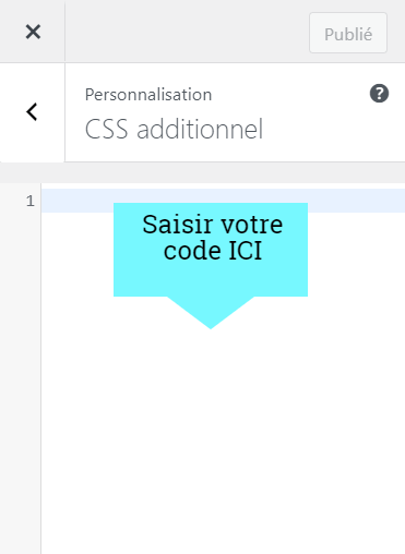 CSS personnalisé à Elementor
