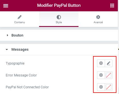 ajouter un bouton PayPal dans Elementor