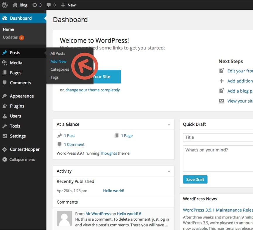 Ajouter un article sur WordPress