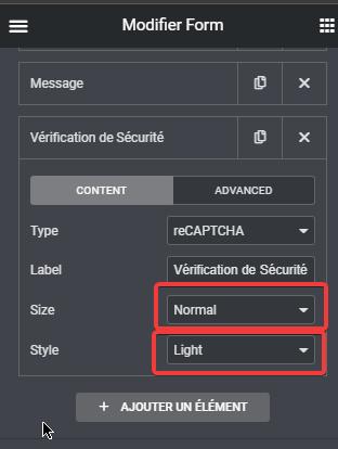 ajouter reCAPTCHA à votre formulaire Elementor