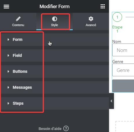 créer un formulaire en plusieurs étapes avec Elementor