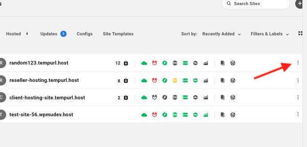 un écran montrant comment vous pouvez directement sélectionner un site à transformer en modèle