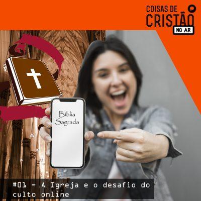 Menina com bíblia no celular