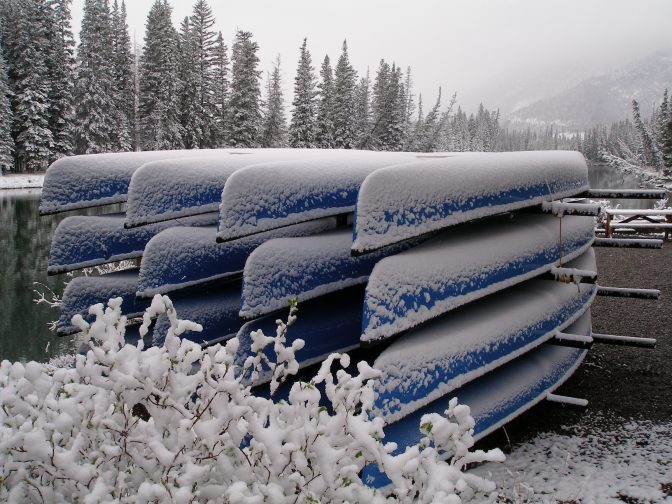 Blue Canoes in Banff May 2008