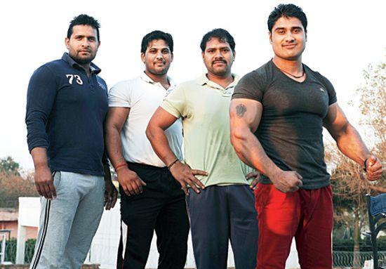 印度「肌肉男」村的男子