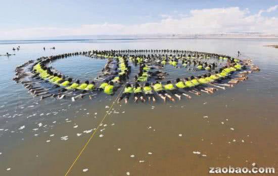 世界最大的漂浮圖案