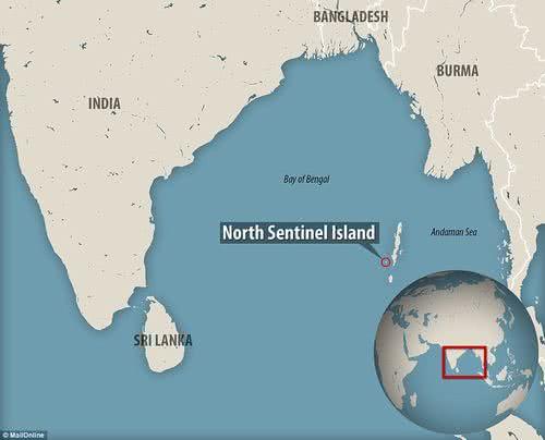 北森蒂納爾島的位置