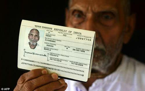 印度 120 歲僧侶席華南達
