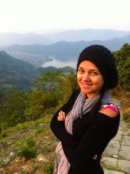 Me at Sarangkot Lookout, Pokhara