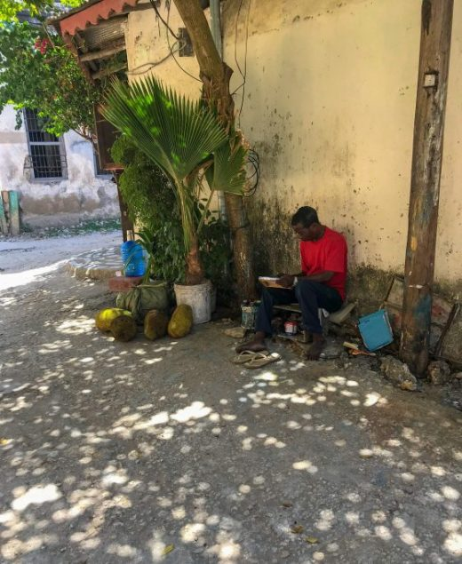 Local man Stone Town Zanzibar