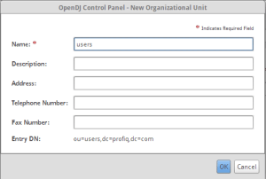 Create new org unit by clicking on Entries -> New Org...
