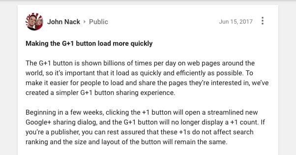 Google Plus Official Announcement