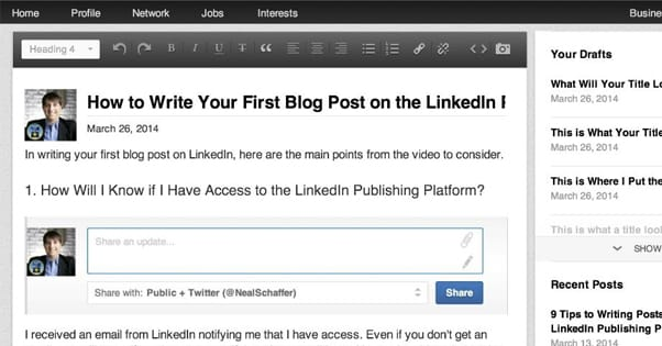 Write a Post on LinkedIn