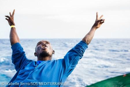 Greateful migrant IsabelleSerroSOS Méd