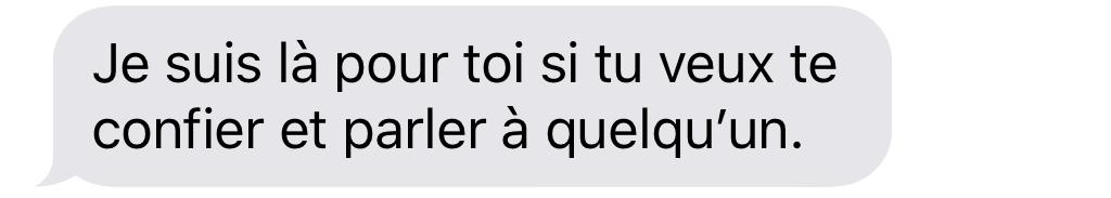 18 sms à envoyez à un ami qui s'isole