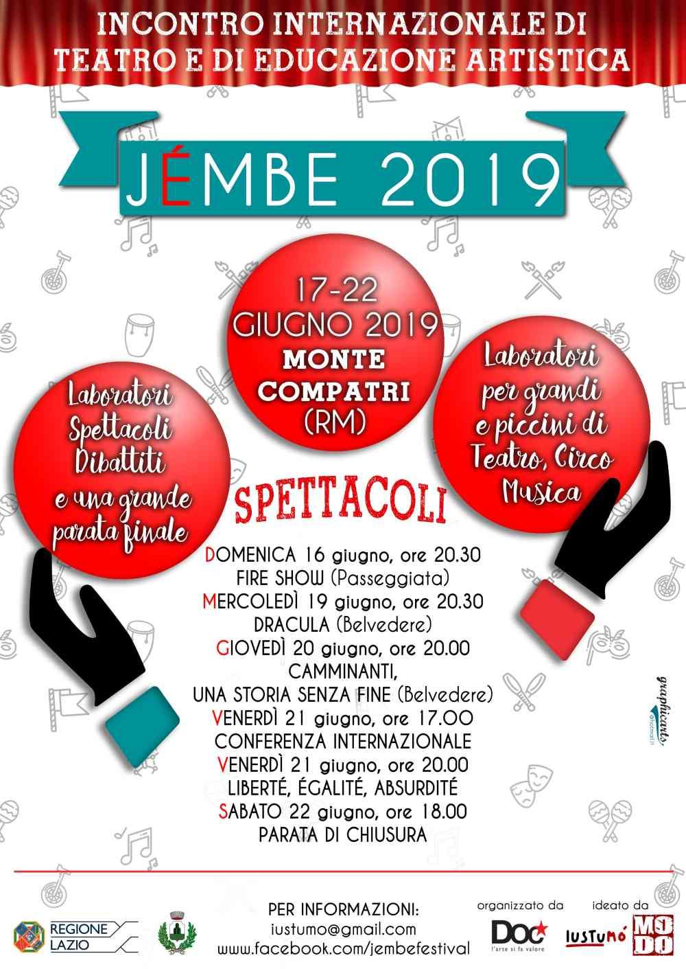 Locandine Jémbe 2019