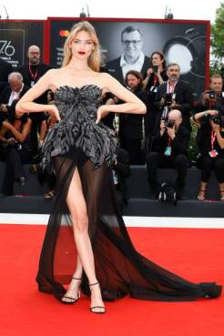 Martha Hunt on the red carpet for the Opening Ceremony and the 'La Vérité (The Truth)' screening during the 76st Venice Film Festival at the ZZZ on August ZZZ, 2019 in Venice, Italy. (Photo by: P. Lehman) (Photo credit should read P. Lehman / Barcroft Media via Getty Images)