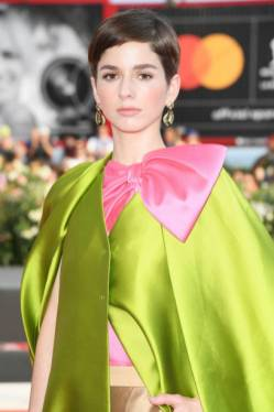 """VENICE, ITALY - AUGUST 31: Mariana Di Girolamo walks the red carpet ahead of the """"Ema"""" screening during the 76th Venice Film Festival at Sala Grande on August 31, 2019 in Venice, Italy. (Photo by Daniele Venturelli/WireImage)"""