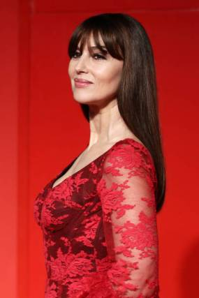"VENICE, ITALY - AUGUST 31: Monica Bellucci attends the ""Irreversible"" Red Carpet during the 76th Venice Film Festival at Sala Grande on August 31, 2019 in Venice, Italy. (Photo by Vittorio Zunino Celotto/Getty Images)"