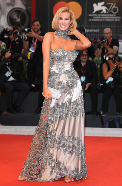 """VENICE, ITALY - SEPTEMBER 02: Stella Manente walks the red carpet ahead of the """"Martin Eden"""" screening during the 76th Venice Film Festival at Sala Grande on September 02, 2019 in Venice, Italy. (Photo by Daniele Venturelli/WireImage)"""