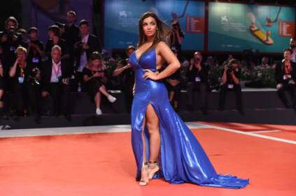 """VENICE, ITALY - SEPTEMBER 02: Elettra Lamborghini attends """"The King"""" red carpet during the 76th Venice Film Festival at Sala Grande on September 02, 2019 in Venice, Italy. (Photo by Stefania D'Alessandro/WireImage,)"""