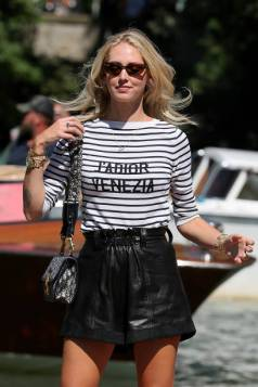 VENICE, ITALY - SEPTEMBER 02: Chiara Ferragni is seen arriving at the 76th Venice Film Festival on September 02, 2019 in Venice, Italy. (Photo by Ernesto Ruscio/GC Images,)
