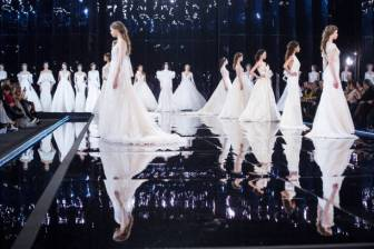 PALAZZO DEI CONGRESSI, ROMA, RM, ITALY - 2018/03/25: The fashion show presentation of Maison Nicole's Bridal, Evening and Red Carpet 2019 collections at the Palazzo dei Congressi in Rome. (Photo by Matteo Nardone/Pacific Press/LightRocket via Getty Images)