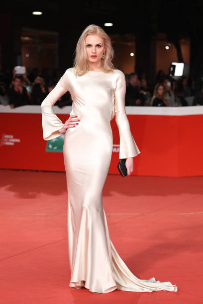 """ROME, ITALY - OCTOBER 24: Andreja Pejic walks the red carpet ahead of the """"The Girl In The Spider's Web"""" screening during the 13th Rome Film Fest at Auditorium Parco Della Musica on October 24, 2018 in Rome, Italy. (Photo by Daniele Venturelli/Daniele Venturelli/WireImage )"""