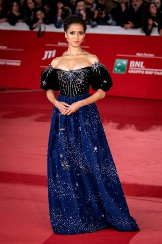 Gugu Mbatha-Raw attends the red carpet for the Motherless Broklyn Movie during the 14th Rome Film Fest at Auditorium Parco Della Musica on 17 October 2019. (Photo by Giuseppe Maffia/NurPhoto via Getty Images)