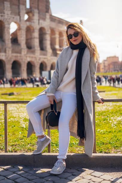 Blonde girl in Rome