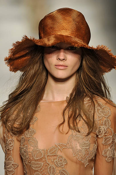 MILAN, ITALY - SEPTEMBER 22: Accessories hat detail on the runway at the Alberta Ferretti Spring Summer 2011 fashion show during Milan Fashion Week at on September 22, 2010 in Milan City. (Photo by Karl Prouse/Catwalking/Getty Images)