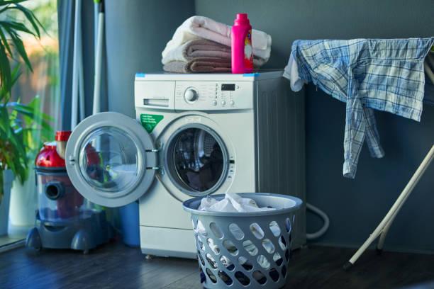 Shot of a washing machine at home