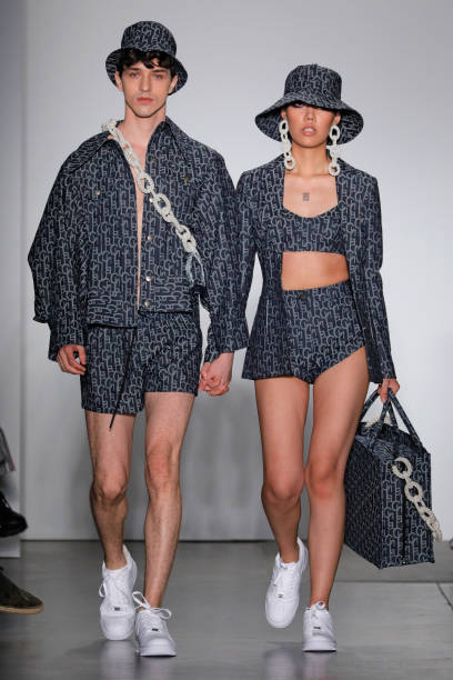 NEW YORK, NEW YORK - SEPTEMBER 05: Models walks the runway during the Laurence & Chico SS 2020 fashion show during New York Fashion Week at Pier 59 Studios on September 05, 2019 in New York City. (Photo by Randy Brooke/WireImage)