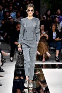 MILAN, ITALY - SEPTEMBER 21: A model walks the runway at the Giorgio Armani Ready to Wear fashion show during the Milan Fashion Week Spring/Summer 2020 on September 21, 2019 in Milan, Italy. (Photo by Victor VIRGILE/Gamma-Rapho via Getty Images)