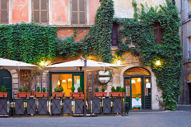 A tavern-restaurant in Rome, Italy