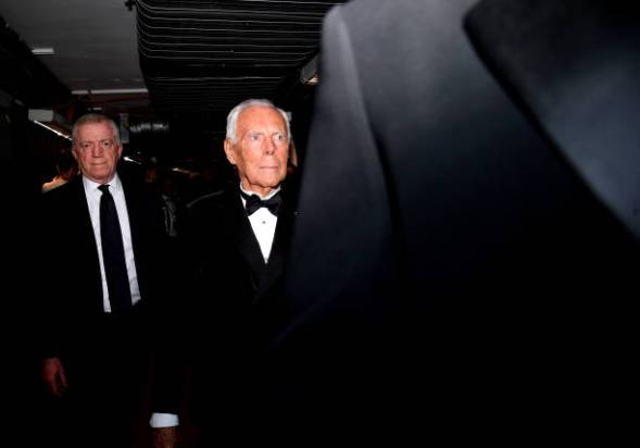 LONDON, ENGLAND - DECEMBER 02: Giorgio Armani backstage stage during The Fashion Awards 2019 held at Royal Albert Hall on December 02, 2019 in London, England. (Photo by Gareth Cattermole/BFC/Getty Images)