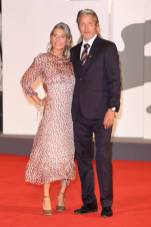 VENICE, ITALY - SEPTEMBER 05: Hanne Jacobsen and Mads Mikkelsen walk the red carpet of the Kineo Prize at the 77th Venice Film Festival on September 05, 2020 in Venice, Italy. (Photo by Daniele Venturelli/WireImage,)
