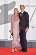 VENICE, ITALY - SEPTEMBER 05: Hanne Jacobsen and Mads Mikkelsen walk the red carpet of the Kineo Prize at the 77th Venice Film Festival on September 05, 2020 in Venice, Italy. (Photo by Stephane Cardinale - Corbis/Corbis via Getty Images)