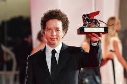 VENICE, ITALY - SEPTEMBER 12: Michel Franco poses with the Silver Lion - Award for Best Director during the winners photocall at the 77th Venice Film Festival on September 12, 2020 in Venice, Italy. (Photo by Stephane Cardinale - Corbis/Corbis via Getty Images)